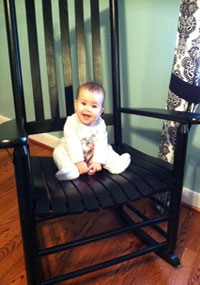 Baby in Papa Bear Rocker