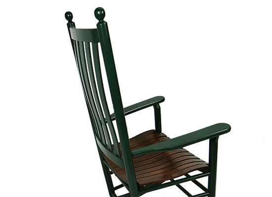 Hunter Green with Cherry Seat