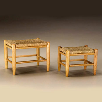 Set of Two Sea Grass Foot Stools