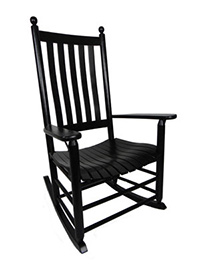 Quick Ship 970 Plantation Shaker Rocker with Lumbar Back