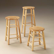 Round Oak Top Stools