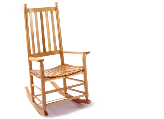 430 Classic Shaker Rocker in Natural Clear