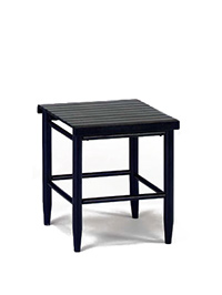 70 Slat Top Side Table