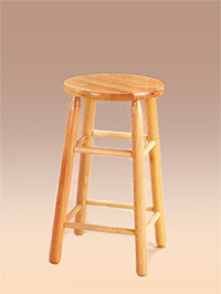 24RT Stools-PAIR IN WHITE